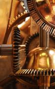 clockwork vertical - stock photo