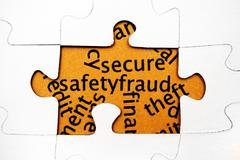 Secure safety fraud Stock Photos