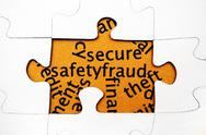 Stock Photo of secure safety fraud