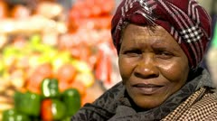 African woman portrait-Fruit seller Stock Footage