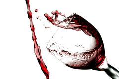 Fun spirts splash pour action red wine glass celebration party lifestyle happy Stock Photos