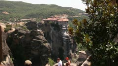 Monastery in meteora valley Stock Footage