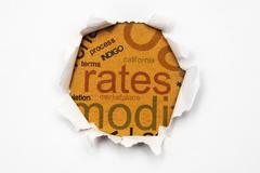 Rates paper hole Stock Photos