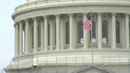 Stock Video Footage of US capitol flag