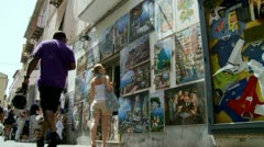 Shopping in Sorrento (five) Italy Stock Footage