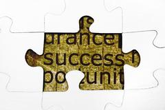 Success puzzle concept Stock Photos