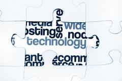 technology puzzle concept - stock photo
