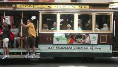 Cable car Powell street, San Francisco Stock Footage