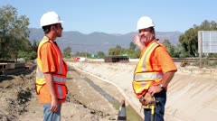 Construction workers arguing Stock Footage