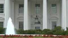 White House fountain Stock Footage
