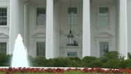 Stock Video Footage of White House fountain
