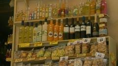 Lemoncello, pasta, biscuits, Sorrento shop Stock Footage