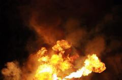 Gasoline fire Stock Photos