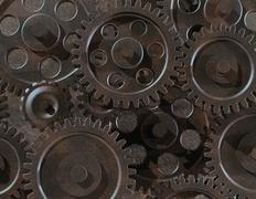 assorted gears - stock photo