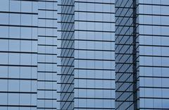 modern office building with glass exterior - stock photo
