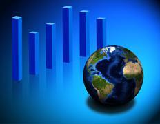 Global chart Stock Illustration