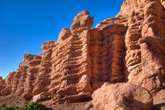 morocco caveman habitation cliff - stock photo