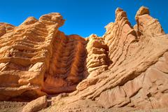 morocco caveman habitation cliff - stock photo