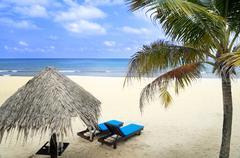 beach holiday tropical Island - stock photo