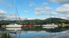BOATS ON LAKE Stock Footage