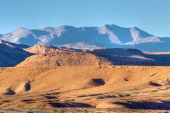 Atlas mountain at dusk Stock Photos