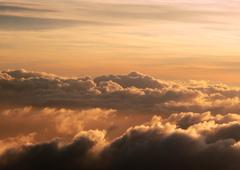 high altitude cloudscape - stock photo