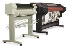 large format ink-jet printers - stock photo