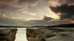 Sydney Cronulla Sunset Time Lapse - stock footage