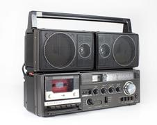 Vintage retro ghettoblaster Stock Photos