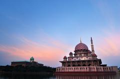 The putra mosque. Stock Photos