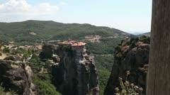 Meteora monastery total Stock Footage