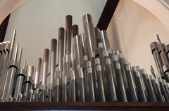 Pipe organ pipes Stock Photos