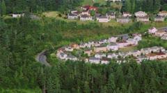Suburban Houses on Hillside - Aerial Stock Footage