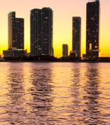 Miami Beach Luxury apartments on the Intercostal. - stock photo