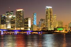 Miami Beach skyline - stock photo