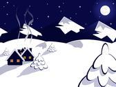 Night landscape Stock Illustration