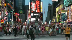 NY time square timelapse - stock footage