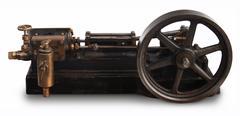 steam piston wheel - stock photo