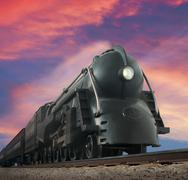 streamliner train - stock illustration