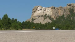 Mt. Rushmore from the Ground Stock Footage