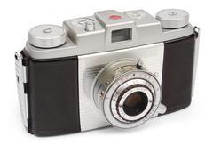 retro viewfinder camera - stock photo