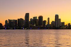Miami Beach skyline Stock Photos