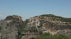 Meteora valley (rock formations) _2 Stock Footage