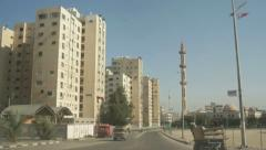 Gaza City roads Stock Footage