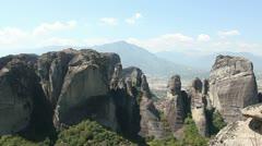 Meteora valley (rock formations) _1 Stock Footage