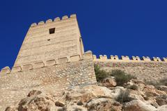 Alcazaba of Almeria in Andalusia, Spain Stock Photos