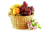 Various of fruits in a basket Stock Photos