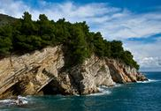 Stock Photo of mediterranean coastline with rock
