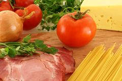 Stock Photo of fresh ingredients for pasta