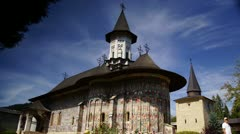 Holy monasteries in Bucovina, Romania heritage,Sucevita time-lapse Stock Footage